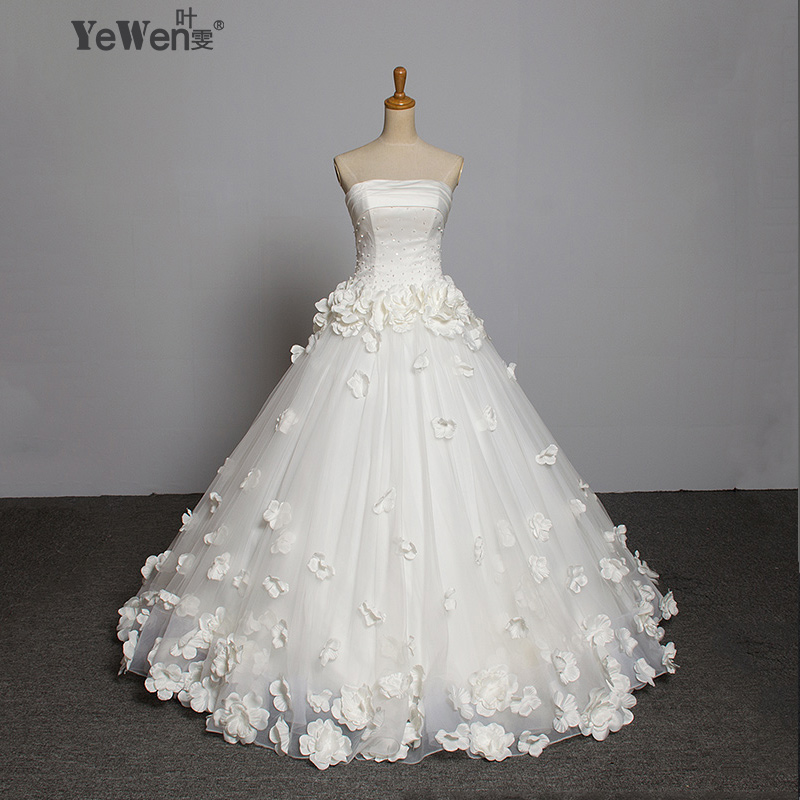 Romantic Floor Length Custom Flower Beaded Shopping Sales Online Vintage Wedding Dress Gowns Robe De Mariage