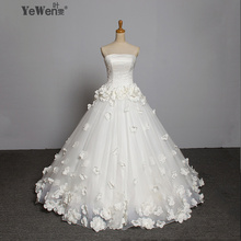 Flower Beaded Vintage Wedding Dress Gowns