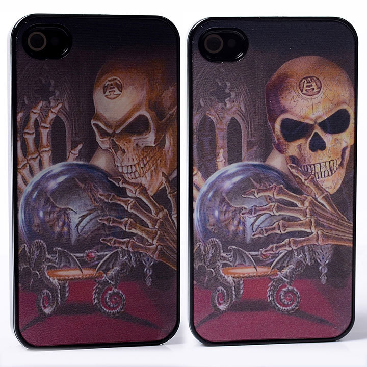 DYNAMIC Movie Video Film Effect magic skull bones crystal ball terror smile PC Hard Back Shell Cover Case For iphone 4 4S 4G(China (Mainland))