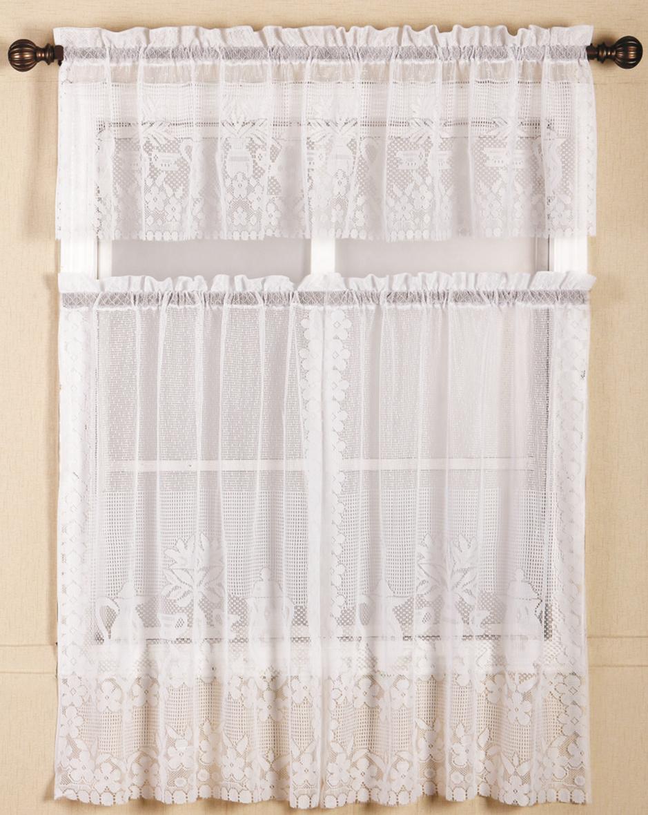 Lace kitchen curtains get cheap lace kitchen curtains for Traditional kitchen curtains