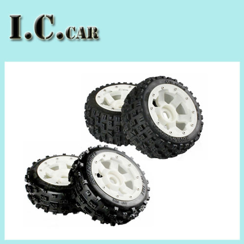 Buggy Knobby Wheels &amp;Tires for 1/5 HPI Baja 5B Parts Rovan KM<br><br>Aliexpress