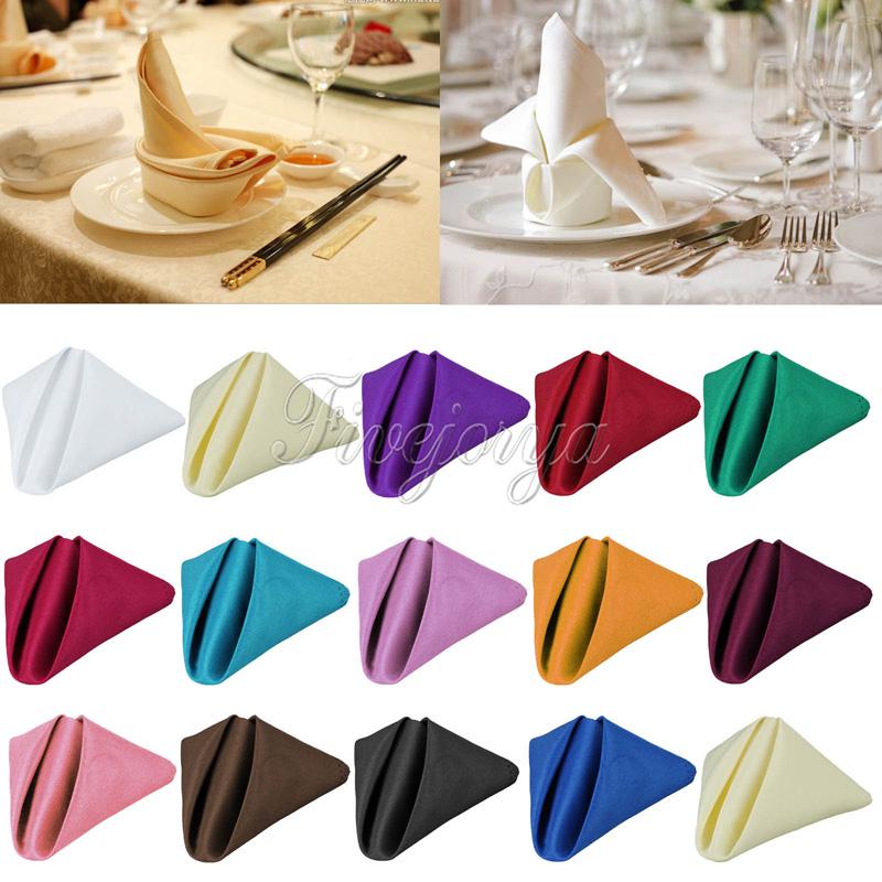 Wedding Table Napkin Linen Napkin Polyester Handkerchief for Diner Wedding Party Xmas Supply 30cm x 30cm(China (Mainland))