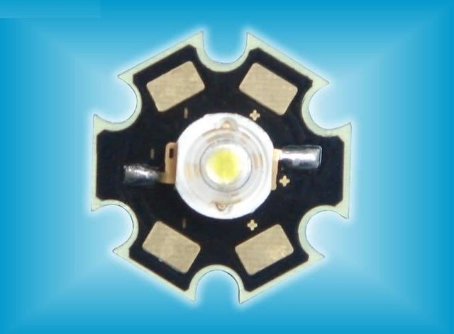 "1W high power led with heat sink,170-200lm,white color,45mil USA ""bridgelux"" led chip"
