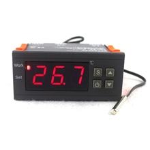 Buy Mini Digital Temperature Controller Thermostat Regulator 10A 110V 220V MH1210W Thermostat LED Display NTC Sensor Delay Protect for $8.34 in AliExpress store