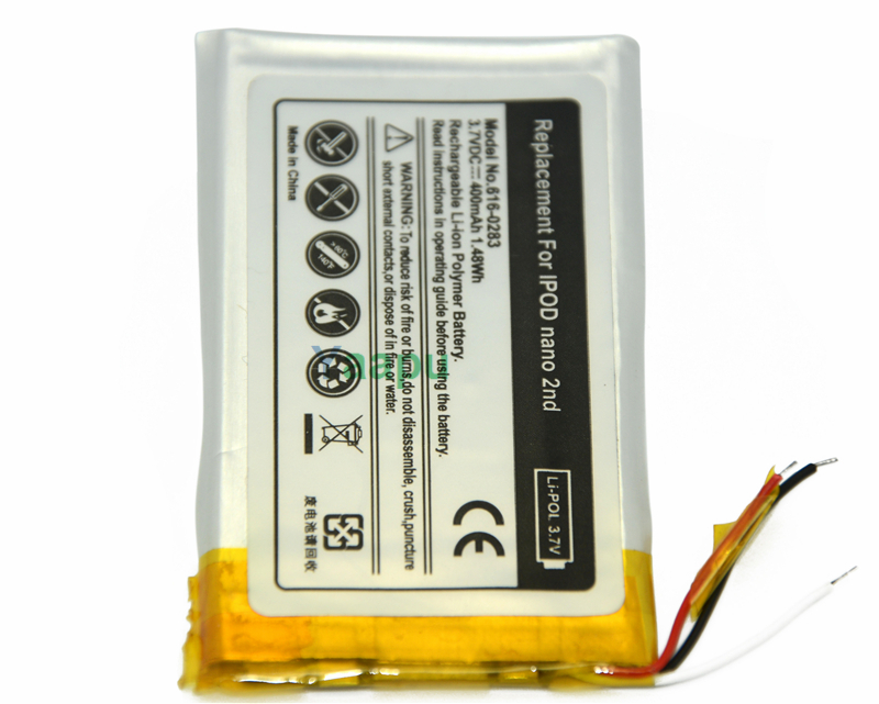 100% tested well Battery Replacement For Apple iPod Nano 2 2Gen internal battery 616-0283(China (Mainland))