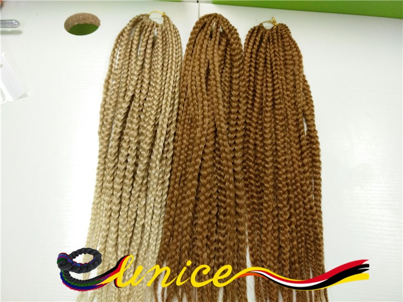 18″ Synthetic Crochet Braid Hair 3X Box Braids Hair Human Braiding Hair Bulk Ombre Braiding Hair For Black Women And Kids