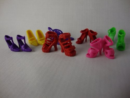 7 Pairs of Sneakers for Barbie Doll
