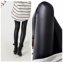 Black women leggings faux leather high quality slim leggings plus size High elasticity sexy pants leggins Plus Size(China (Mainland))