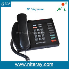 Portable Office Desk SIP telephone With 2 IP Line Support 3 Party Conference
