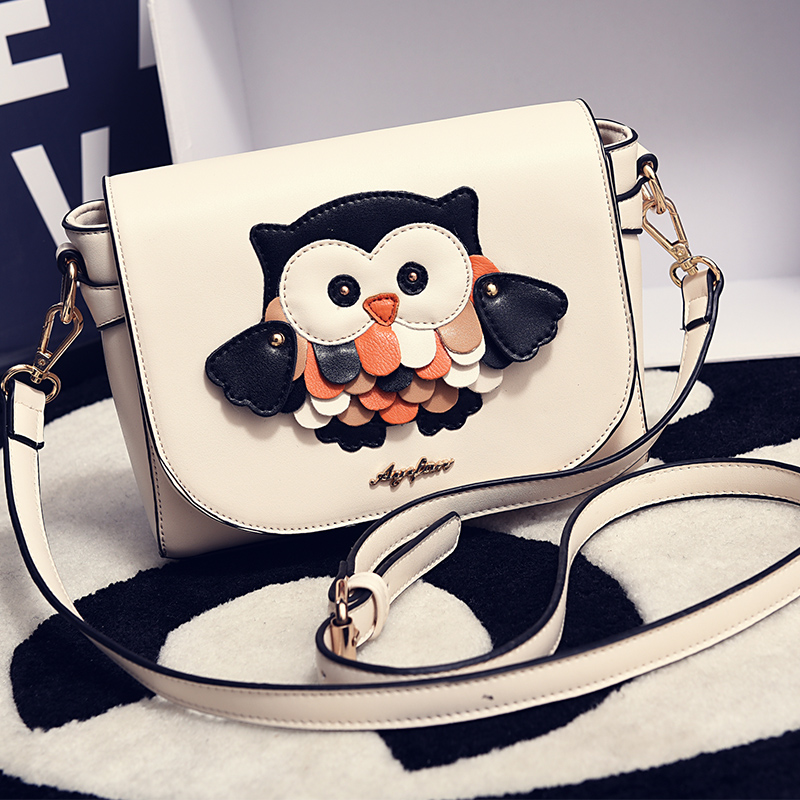 In the spring of 2016 the new female bag restore ancient ways the owl splicing postman small bread one shoulder aslant BaoChao <br><br>Aliexpress