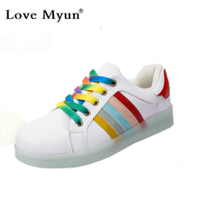 2016 Fashion Basket Led Shoes for Adults Women Luminous Light Up Shoes for Adults Glowing Chaussure Led Femme Zapatos Mujer
