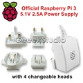 Official Raspberry Pi 3 Power Supply 5 1V 2 5A Micro USB Charger AU US EU