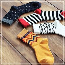1 Pair 2016 Hot Sale Winter Autumn Warm Mens Designer Dress Socks New Stripe Dos Star Argyle Color Fashion Leg Warmers(China (Mainland))
