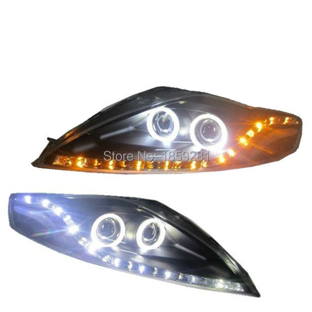 Monde headlight,2008~2012,Fit for LHD,RHD need add 200USD),Free ship!Monde fog light,2ps/se+2pcs Aozoom Ballast;KUGA,Monde