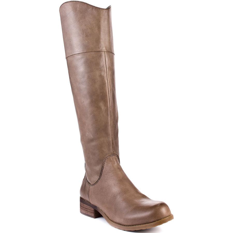 Brown Knee High Woman Boots Hoof Low Heel Round Toe Zipper Handmade Ladies Spring Style Ladies Botas 2015 Made-to-order<br><br>Aliexpress
