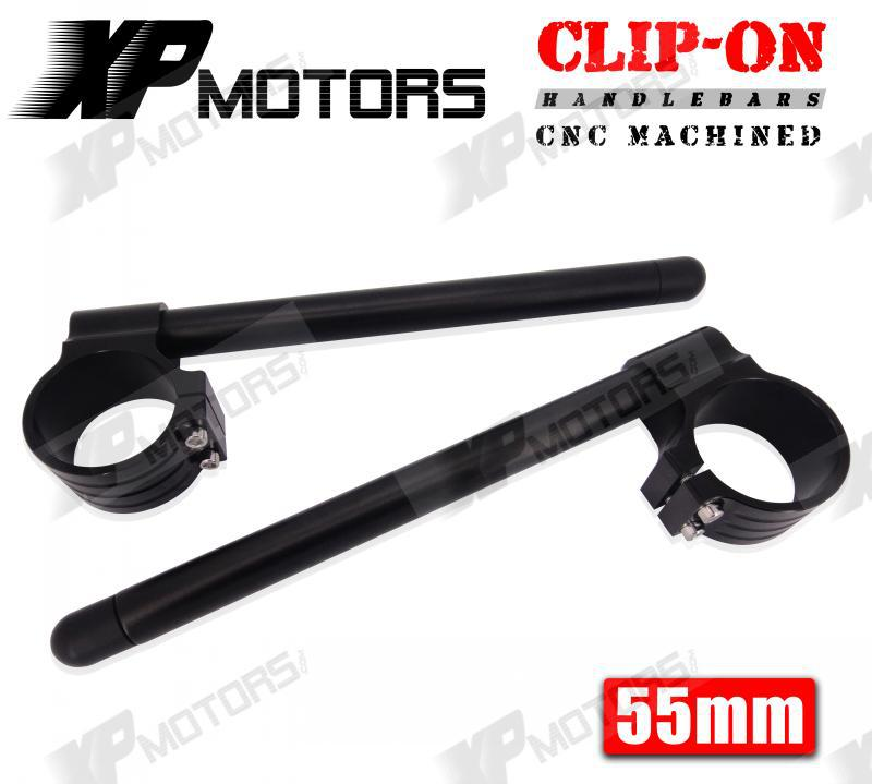 High Quality A Pair Motorcycle 55mm CNC Billet Clip On Handlebars Fits For BMW S1000RR 2009 2010 2011 2012 2013 2014 Black(China (Mainland))