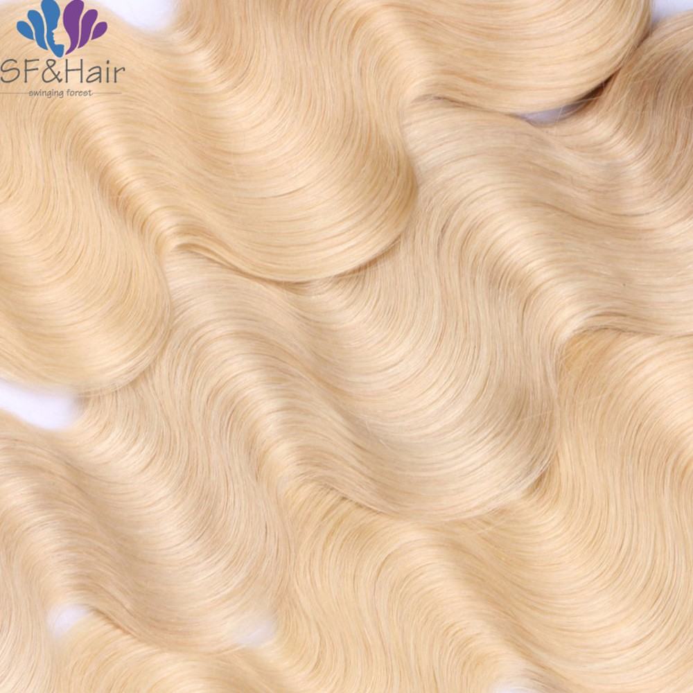 NEW #1B 613 Blonde Brazilian Hair Bundles Cheap Brazilian Body Wave Hair Extensions 3 Pcs Dark Roots Blonde Human Hair Bundles