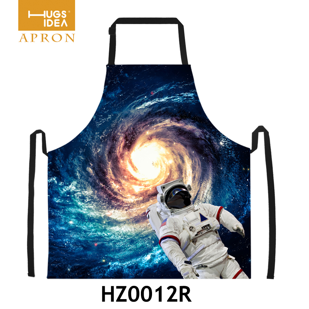 Novelty Funny Cooking Aprons 3D Star Wars Universe Galaxy Print Apron Custom Women Men Kitchen Chef BBQ Party Aprons Fancy Dress(China (Mainland))
