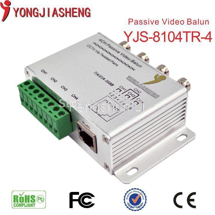 UTP 4 Ch Passive Video Balun 4 Channel CAT5 CCTV BNC Video Balun 4ch cctv balun(China (Mainland))