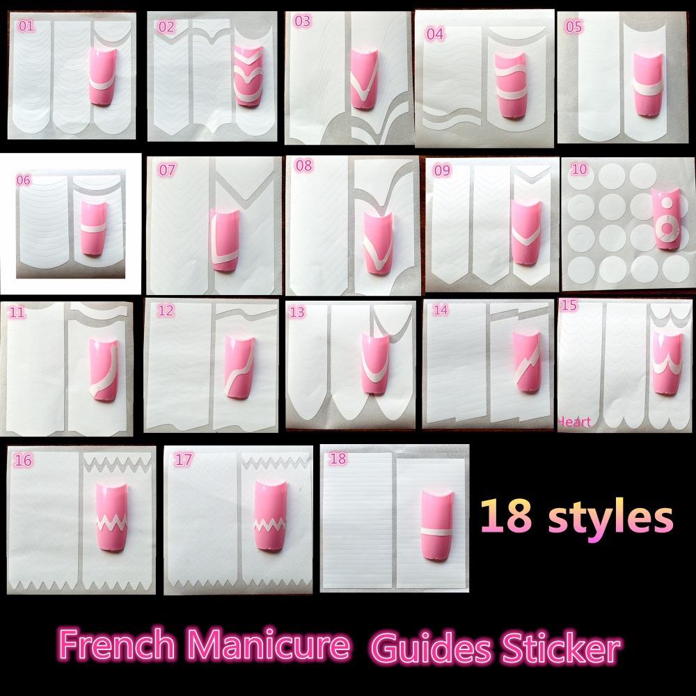 18 Styles Nail décoration Nail Art conseils Nail Sticker Nail Art ...