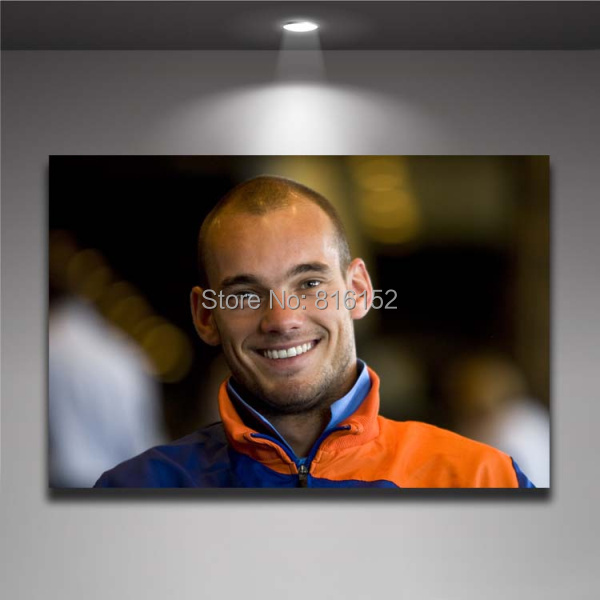 Wesley Sneijder Netherlands Soccer Player Football Star Wall Picture Canvas Print Painting Boy's Room Wall Decor(China (Mainland))