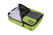 3 Pcs Set Nylon Packing Cubes For Clothes Lightweight Luggage Travel Bags For Shirts Waterproof Duffle