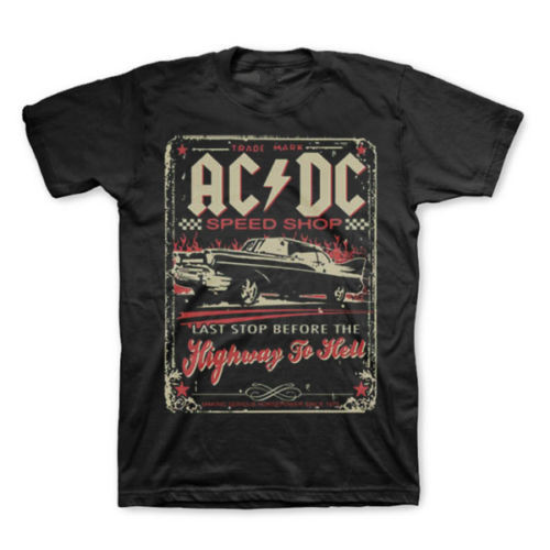 AC/DC Speed Shop Highway To Hell T-Shirt New Authentic Rock Tee S-6XL(China (Mainland))