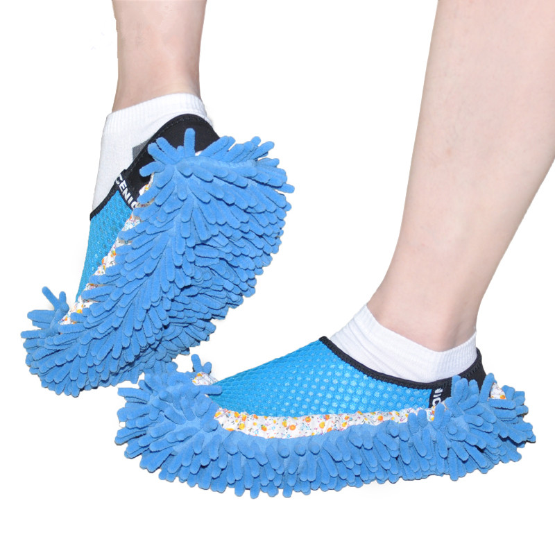 Dust Mop Cleaner Slipper Cleaning Cloth Floor Cleaner Shoes Covers(China (Mainland))