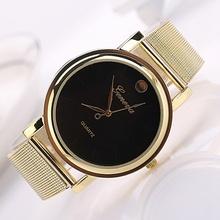 Gold Watch Steel Men Fashion Dress Watches Men Brand Quartz Wristwatch Women Quartz Wristwatch 2 Color