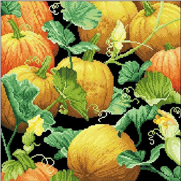 High Quality Cross Stitch Kits Pumpkin Free Shipping(China (Mainland))