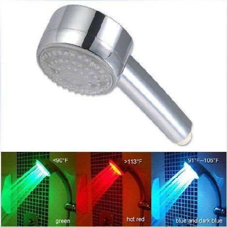 Temperature Control 3 Colors LED Light Bathroom Shower -AC408