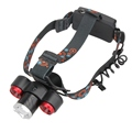 New 3 LED Headlight 8500Lm XML T6 2R5 Rechargeable Headlamp High Power Head Light Torch For