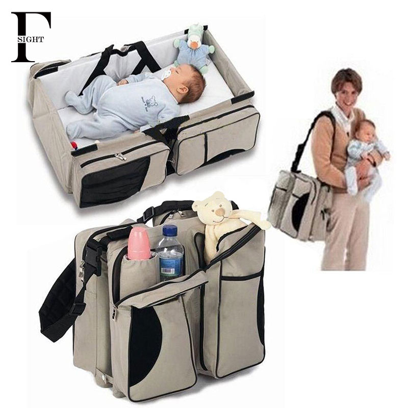 2016 Portable baby bed Folding travel cot bag large-capacity Multifunction baby crib mummy maternity diaper bag for Baby Care