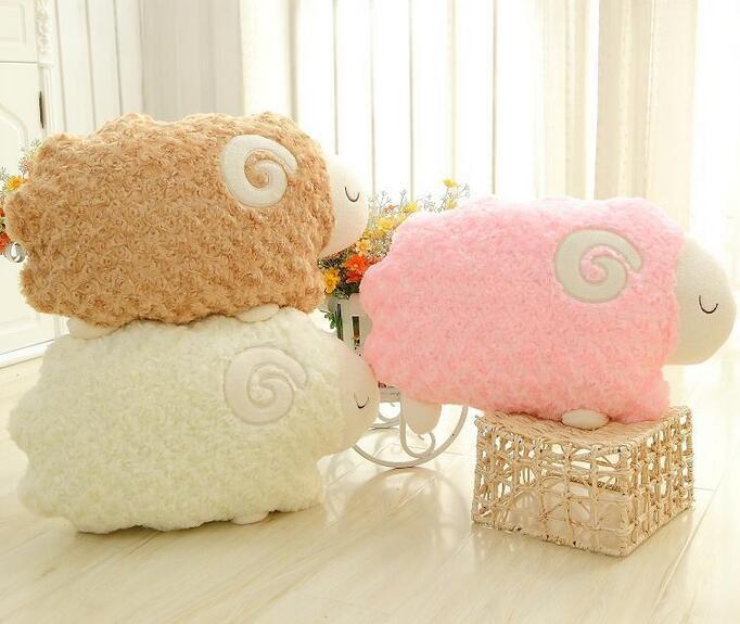 Rose velvet plush toys sheep home aromatherapy pillow car pillow cushions plush animals(China (Mainland))