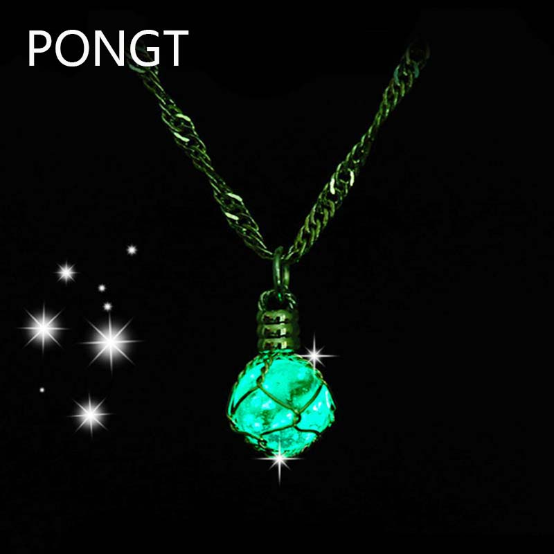 2016 new arrive steampunk glow in the dark necklace silver wire wrapped glowing jewellery glass bottle pendant fairy dust bottle(China (Mainland))