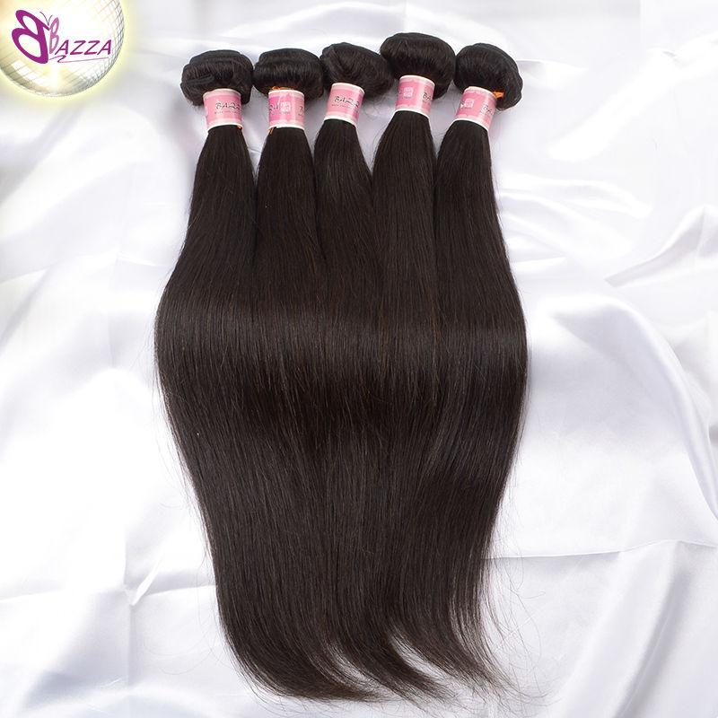 100 percent human hair weave brazilian straight hair virgin remy hair bundle No tangling 5a brazilian virgin kinky straight hair(China (Mainland))