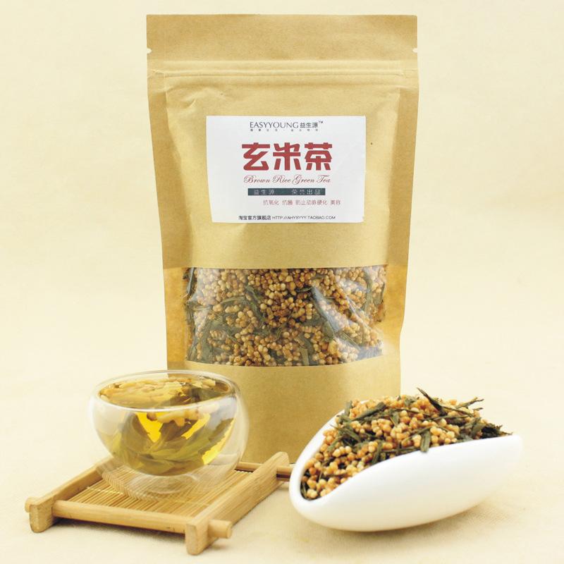 Tea bags imported Genmai Genmaicha 100g Green Tea rice tea wholesale custom full<br><br>Aliexpress