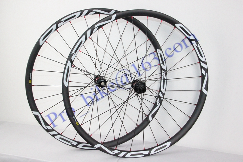 MTB carbon wheel 32mm width wheelset! 650B carbon mountain wheels with DT240S straight pull hub high profile(China (Mainland))