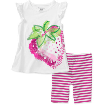 12M~5T brand baby clothing sets new summer baby girl's sets cotton print sleeveless 2pcs set  for girl 2266
