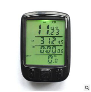 Glow bicycle code table odometer speedometer bike outdoor electric vehicle travel calculator bike computer KM / H(China (Mainland))