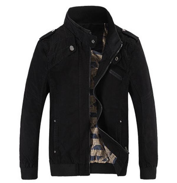 2016 Hot Men Jacket Casual Winter Jacket Cotton Denim Jacket Army Green Zipper Slim Fit Coat Men Jacket(China (Mainland))