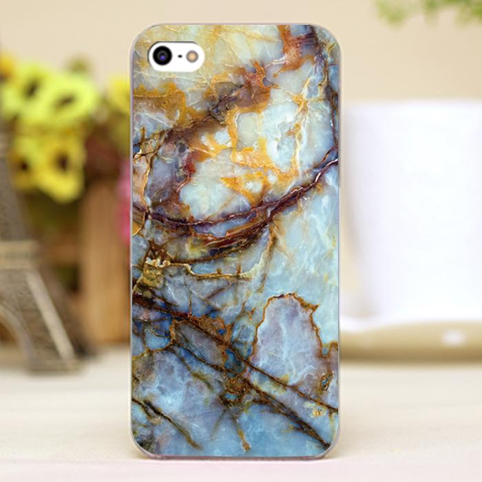 Marble Design Customized transparent case cover cell mobile phone cases for Apple iphone 4 4s 5 5c 5s hard shell(China (Mainland))