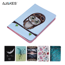 2016 New Painting PU Leather Ultra Slim Flip Folio Stand Case Cover For Apple iPad Mini 1 2 3 7.9 inch w/Card Holder Stylus Pen(China (Mainland))
