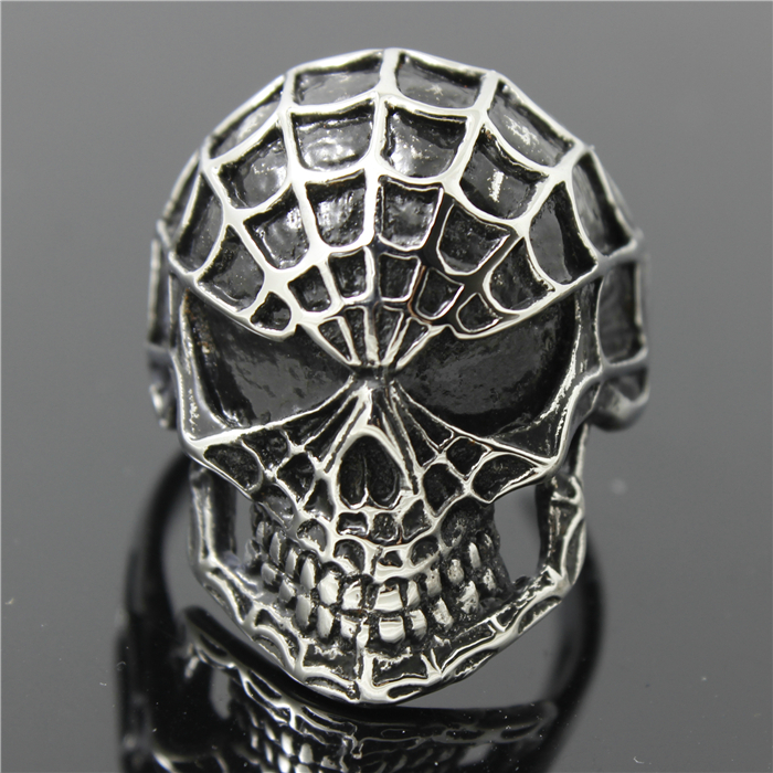 316L Stainless Steel Cool Punk Gothic Spider Man Super Hero Newest Ring(China (Mainland))