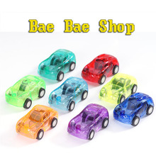 Hot Sale Cute Candy Color Toy Cars Best Christmas Gift for Child Plastic Mini Car model kids toys for boys(China (Mainland))