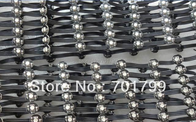 Black DC5V WS2811 led 5050 SMD pixel node;50pcs a string;black wires;5cm wire spacing