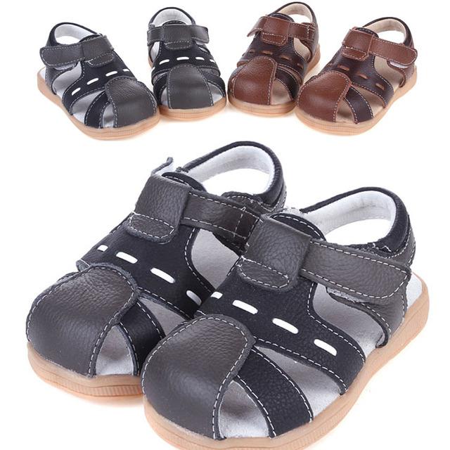 2016 мальчиков оригинальные кожаные сандалии малышей реально кожаные ботинки летние ...