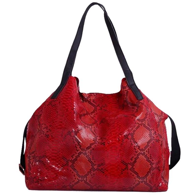 Luxurious Shiny Snake Grain Genuine Leather Graceful Shoulder Bags For Women designer handbags high quality L4-2189<br><br>Aliexpress