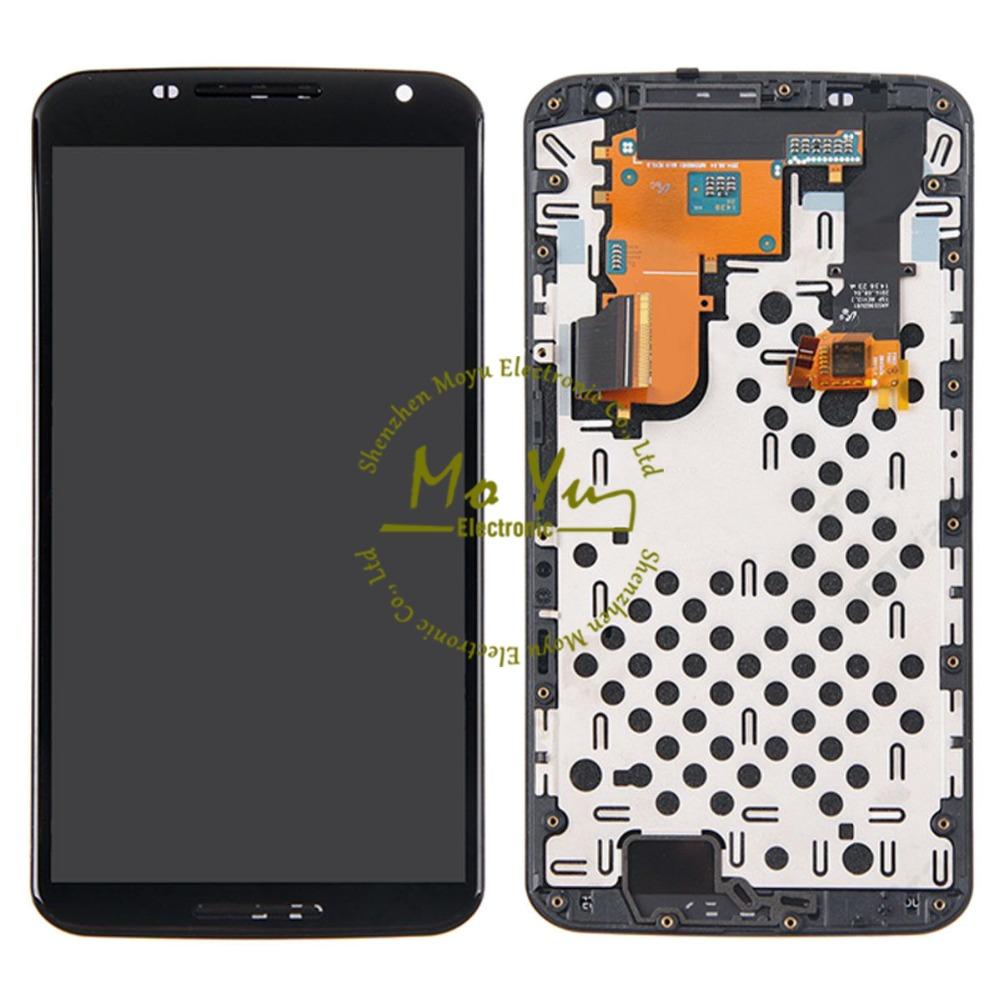 Cellphone Screen OEM Black For Motorola Google Nexus 6 XT1103 XT1100 LCD Screen Assembly Testing LCD Display AMOLED Touchscreen(China (Mainland))