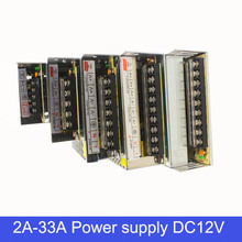 12V 2A 3A 6A 6.5A 10A 15A 25A 30A 33A DC Switch Switching 24W 75W 120W 180W 300W 360W 400W  Power Supply Driver For LED Strip(China (Mainland))